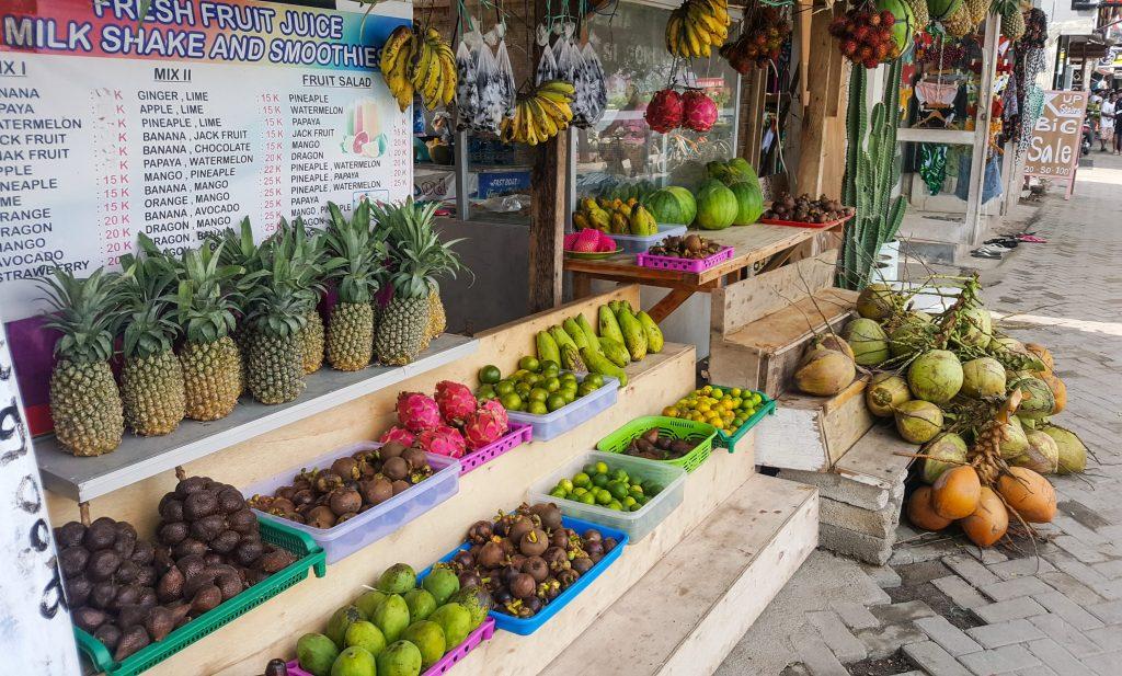 Fruta, fruit, gili trawangan, bali, indonesia