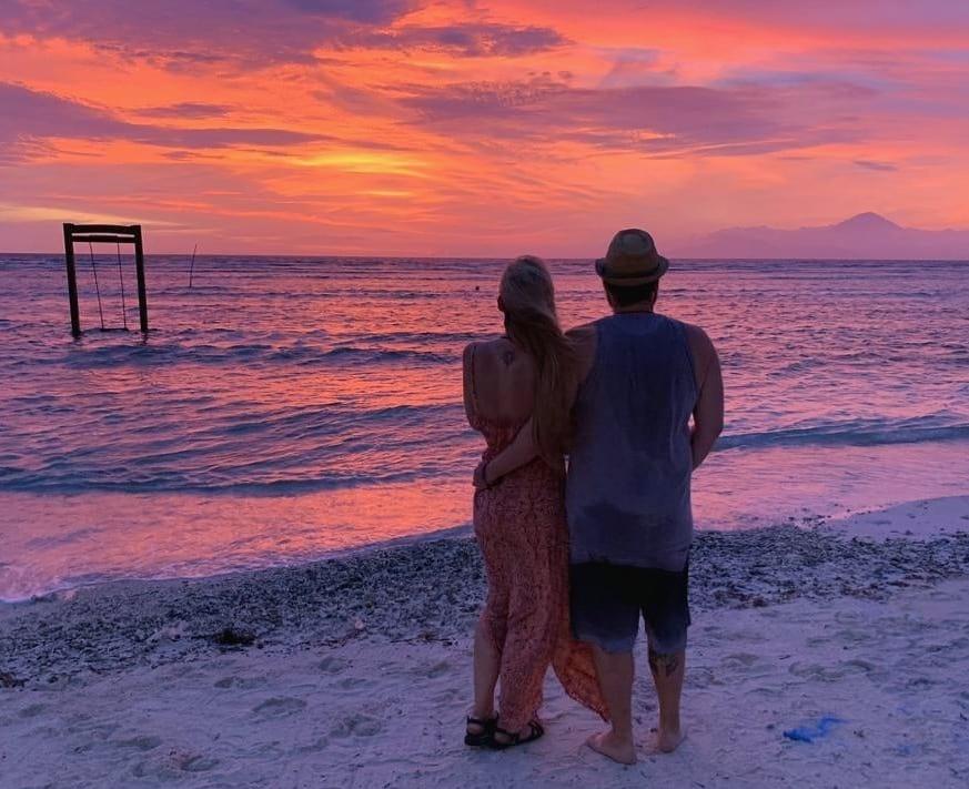 atardecer sunset gili trawangan bali indonesia