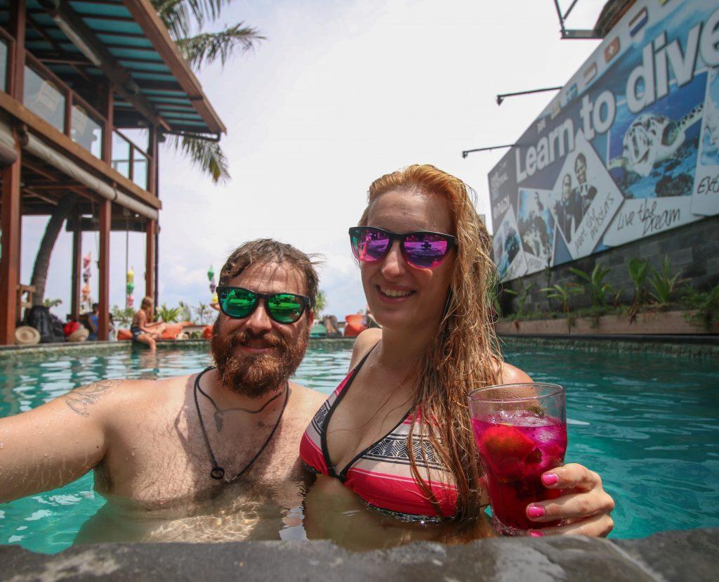 mojito, piscina, siroko, bikini, gili trawangan bali indonesia